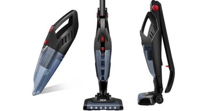 Deik 2-in-1 Cordless Bagless Stick and Handheld Vacuum Cleaner